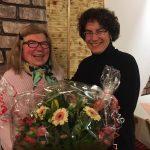 DFF Cadolzburg: Blumen zum Abschied: Kriemhilde Nussbeck und Elizabeth Eder